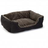 Abbildung von Beeztees Katzenbett Baboo Taupe/Schwarz 48x37x18cm