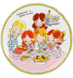 Afbeelding van Blond Amsterdam dinerbord Even Bijkletsen (Ø26 cm)
