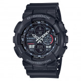 Afbeelding van Casio GA 140 1A1ER herenhorloge zwart kunststof