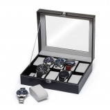Bilde av Watchbox Black/Gray, suitable for 10 watches.