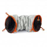 Afbeelding van Beeztees speeltunnel Crupa grijs met oranje bies