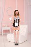 Afbeelding van 4 Delig Sexy Dienstmeisje Kostuum, Zwart Maat: One Size Van Musiclegs