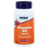 Afbeelding van Now Foods Vitamine D3 (1000 Iu) 360 Softgels