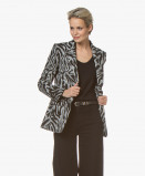 Bilde av Drykorn Blazer Atlin Zebra Print Knitted in Grey