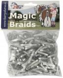 Afbeelding van Harry's Horse Magic Braids elastiekjes (Kleur: zilver)