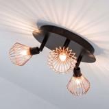 Afbeelding van Brilliant aantrekk. uitger. plafondrondel Dalma, 3 lichtbr., voor woon / eetkamer, metaal, G9, 33 W, energie efficiëntie: A++, H: 16 cm