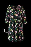 Image of MS Mode Mesdames Robe à fleurs Noir