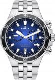Afbeelding van Edox 10109 3M BUIN herenhorloge blauw edelstaal