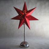 Afbeelding van Best Season chroom/wit LED ster Cellcandle sterrenpatroon, metaal, papier, L: 35 cm, H: 55 cm
