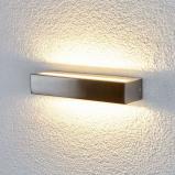 Afbeelding van Aantrekkelijke LED wandlamp Jagoda voor buiten, Lampenwelt.com, roestvrij staal, polycarbonaat, 7 W, energie efficiëntie: A+, B: 27 cm, H: 5 cm