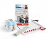 Afbeelding van Alpine Muffy gehoorbescherming voor baby blauw met beschermtasje vliegtuig oortjes