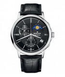 Afbeelding van Edox 01651 3 NIN herenhorloge zwart edelstaal
