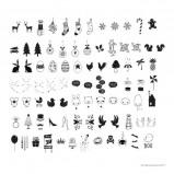 Afbeelding van A Little Lovely Company lightbox letterset Celebrations Symbolen