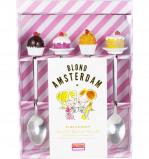 Afbeelding van Blond Amsterdam set van 4 theelepels Even bijkletsen