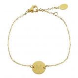 Afbeelding van Armbandje goud initiaal, armbanden