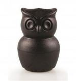 Afbeelding van Qualy eierdopje met peper en zoutstel uil Morning Owl zwart