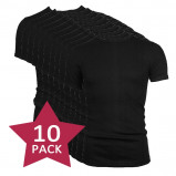 Afbeelding van 10 pack Beeren t shirt korte mouw ronde hals Zwart.