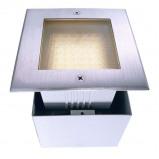 Afbeelding van Deko Light led grondspot Square II warm wit, roestvrij staal, glas, 2.8 W, energie efficiëntie: A+, L: 12.5 cm, B: H: 7.9 cm