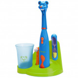 Afbeelding van Bestron DSA3500B Bobby Bear Kindertandenborstelset elektrische tandenborstel (Blauw/groen)