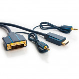 Afbeelding van HDMI DVI met analoge audio 3 meter Clicktronic