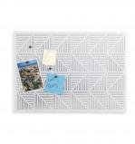Afbeelding van Umbra geperforeerd prikbord van metaal Trigon Wit