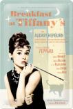 Afbeelding van Audrey Hepburn Breakfast At Tiffany's Blauw Metalen Wandplaat 20x30cm Wandplaten