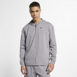 Image of Nike Dri FIT Men's Full Zip Training Hoodie Grey