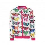 Afbeelding van Desigual bomberjack met vlinders wit