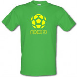 Imagine din 1970 World Cup Mexico male t shirt.