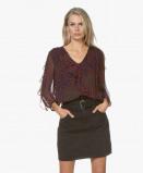 Obrázek ba&sh Blouse Purple Genny Printed Chiffon