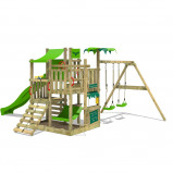 Image of Fatmoose Climbing Frame BananaBeach Big XXL with swing