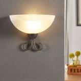 Afbeelding van Aantrekkelijke wandlamp Castila, Lampenwelt.com, voor woon / eetkamer, glas, metaal, E27, 60 W, energie efficiëntie: A++, B: 25 cm, H: 19.5 cm