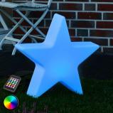Afbeelding van 8 Seasons led decoratielamp RGB Shining Star, 40 cm, voor woon / eetkamer, polyethyleen, energie efficiëntie: A