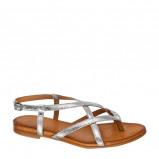 Afbeelding van 5th Avenue leren sandalen zilver