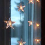 Afbeelding van Best Season lichtgordijn Star LED 5 snaren 30 l., kunststof, 0.06 W, energie efficiëntie: A+, B: 90 cm, H: 120 cm