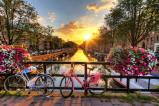 Afbeelding van Amsterdam Zonsopgang 7 delig Fotobehang 350x260cm Steden