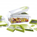 Afbeelding van Cucinapro Hakker en snijder met 7 inzetstukken groen