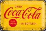 Afbeelding van Coca Cola Logo Geel Metalen Wandplaat 30x20cm Wandplaten