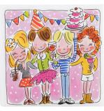 Afbeelding van Blond Amsterdam pak 20 servetten party Even bijkletsen