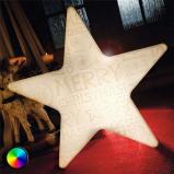 Afbeelding van 8 Seasons led ster Shining Star Merry Christmas, polyethyleen, energie efficiëntie: A