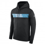 Image of Nike Tri Blend Raglan (NFL Panthers) Women's 3/4 Sleeve T Shirt Black