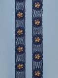 Zdjęcie Vlisco Guipure Lace Edging 2yrd Blue African print fabric Vlisco Guipure