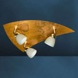 Afbeelding van Busch gouden plafondlamp ELEGANCE 3 lichts, voor woon / eetkamer, metaal, bladgoud, glas, G9, 40 W, energie efficiëntie: A++, L: 44 cm, B: 32 cm