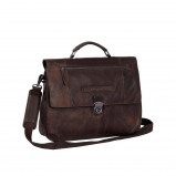 Bilde av Chesterfield Leather Briefcase Brown Matthew
