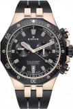 Afbeelding van Edox 10109 357RNCA NIRG herenhorloge zwart edelstaal PVD rosé