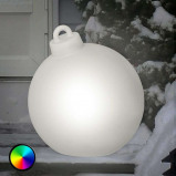 Afbeelding van 8 Seasons mooie LED Shining Christmass Ball decor. v. buit., polyethyleen, energie efficiëntie: A, H: 37 cm