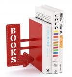 Afbeelding van Balvi boekensteun Bookshop Rood Metaal