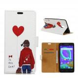 """Bilde av """"Alcatel U5 beskyttelses deksel i syntetisk skinn med printet bilde Er dette kjærlighet"""""""