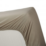 Afbeelding van Beddinghouse Percale Topper Hoeslaken Taupe 140x210 cm / Zand
