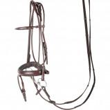 Abbildung von Harry's Horse Luxury gerundeten Zaum (Farbe: braun, Maßgeschneidertes Pferd: voll)